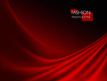 Vector illustration of smooth elegant luxury red silk or satin texture. Can be used as background vector illustration