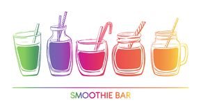 Vector illustration Smoothie. stock photos