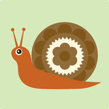 Vector Illustration of snail Stock Photos