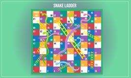 Vector illustration of Snake ladder royalty free illustration