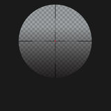 vector illustration with sniper sight, cross-hair  red dot. Vector illustration with sniper sight, target for shooting icon on transparent background, cross Stock Photos