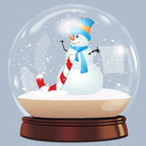 Vector illustration of snow globe ball realistic new year chrismas object isolated on white with shadow Stock Photography