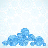 Vector illustration with snowballs on seamless winter background Royalty Free Stock Photo