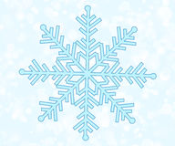 Vector illustration snowflake Stock Photography