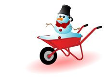 Vector illustration the snowman Stock Image