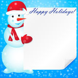 Vector illustration of snowman. Stock Images