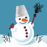 Vector illustration of a snowman Royalty Free Stock Image