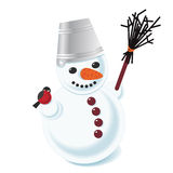 Vector illustration of a snowman Royalty Free Stock Photos