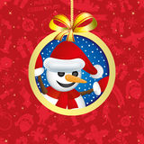 Vector illustration. Snowman. Royalty Free Stock Photos