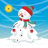 Vector Illustration Of Snowman. Eps 10 Royalty Free Stock Photography