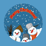 Vector illustration of a snowmans Royalty Free Stock Images