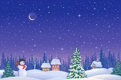 Christmas eve landscape Royalty Free Stock Photography