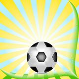 vector illustration of soccer ball Royalty Free Stock Photo