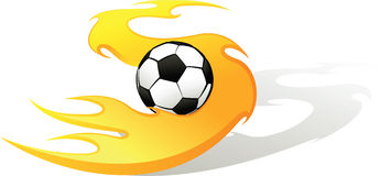 Soccer Flame S with Ball Royalty Free Stock Images