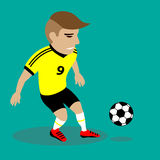 Vector illustration Soccer player Royalty Free Stock Photo