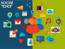 Vector illustration of social networking concept Royalty Free Stock Images