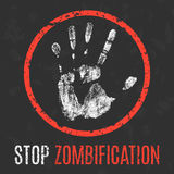 Vector illustration. Social problems. Stop zombification. Royalty Free Stock Image