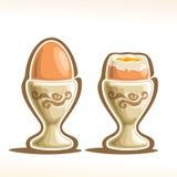 Vector illustration of Soft Boiled Egg in Holder Stock Images