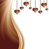 Vector illustration of soft brown dark chocolate abstract background Stock Photo