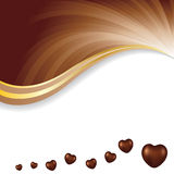 Vector illustration of soft brown dark chocolate abstract background. Eps10 Royalty Free Stock Photo