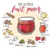 Fruit punch recipe card Royalty Free Stock Image