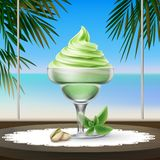 Sundae ice cream Royalty Free Stock Images