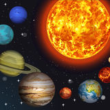 Vector illustration Solar system Stock Image