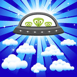 Aliens in the Sky Stock Photo