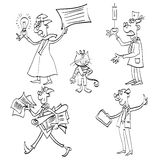 Vector illustration of some hand drawn cartoon Stock Photos
