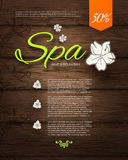 Vector illustration. Spa Resort or Beauty Business Background. Eco Design. Royalty Free Stock Image