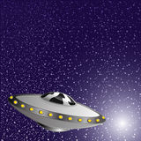 Vector illustration. Spaceship. Royalty Free Stock Images