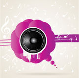 Vector illustration with speaker Stock Images