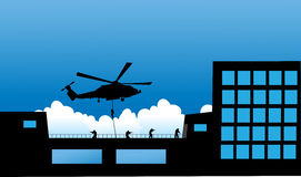 Vector illustration    Special Forces   SWAT Team  Stock Photo