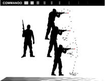 Vector illustration    Special Forces   SWAT Team  Police. Military shooting,shoot gun Royalty Free Stock Images