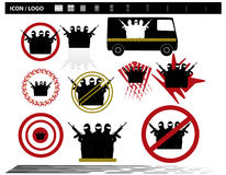 Vector illustration    Special Forces   SWAT Team  Police Royalty Free Stock Image