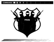 Vector illustration    Special Forces   SWAT Team  Police. Military shooting,shoot gun,logo,icon Stock Photo