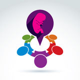 Vector illustration of a speech bubble and a baby embryo. Differ Royalty Free Stock Images