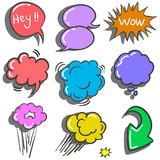 Vector illustration speech bubble doodles Royalty Free Stock Photography