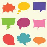 Vector Illustration Of Speech Bubbles. Eps 10 Royalty Free Stock Photography