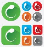 Vector illustration of sperm icon design. App icon Stock Photo