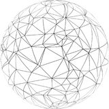 Sphere with triangles Royalty Free Stock Photo