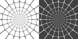 Vector illustration of spider web royalty free illustration