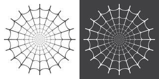 Vector illustration of spider web stock illustration