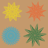 A vector illustration of spirographs. A vector illustration of spirographs in various forms and colours Royalty Free Stock Images