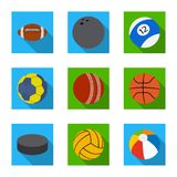 Vector design of sport and ball logo. Collection of sport and athletic stock symbol for web. stock illustration