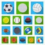 Vector design of sport and ball symbol. Set of sport and athletic stock symbol for web. stock illustration
