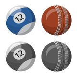 Vector illustration of sport and ball symbol. Set of sport and athletic stock symbol for web. royalty free illustration