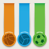 Sport balls banners Stock Photo