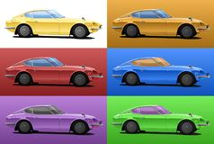 Car in pop art style Royalty Free Stock Image