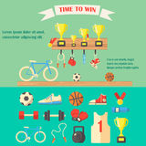 Vector illustration of sport equipment. Stock Images